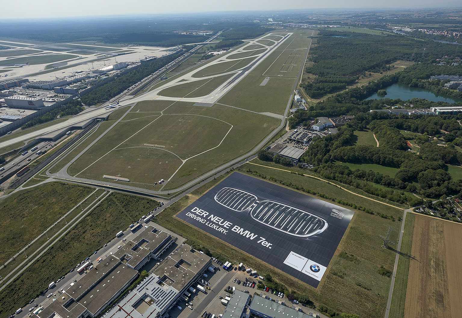 BMW shows largest poster in the World next to Frankfurt Airport (FRA)