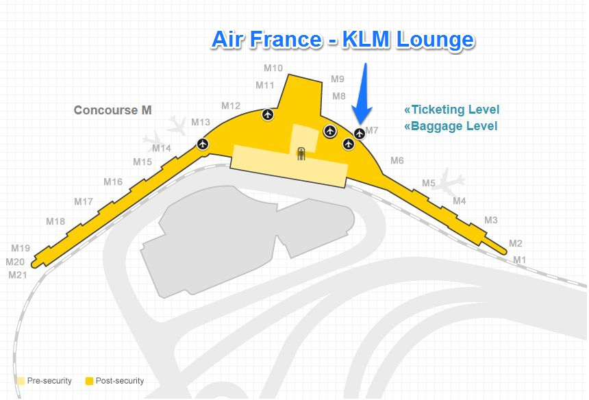 Lounge Review Air France KLM Lounge at Chicago OHare Terminal 5