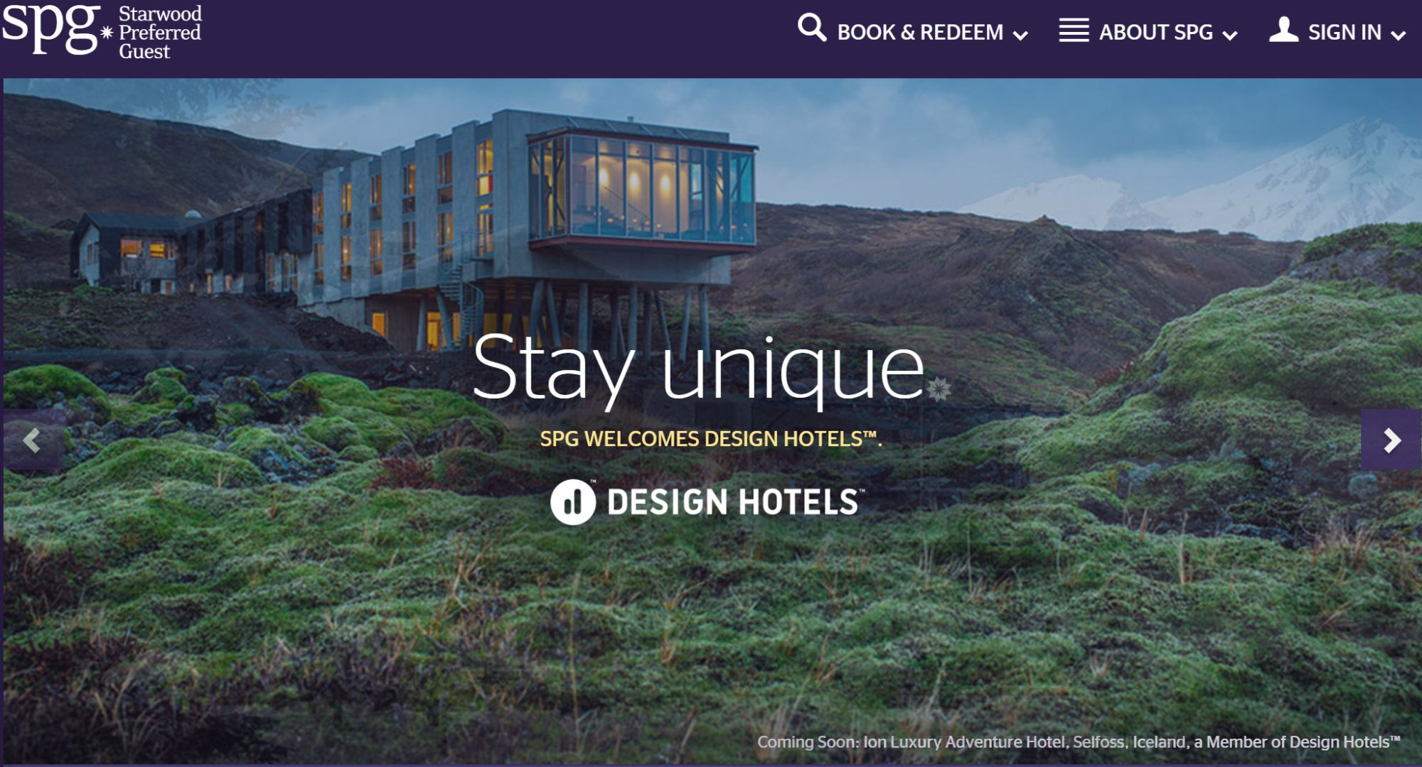 Win free SPG Starpoints with SPG Design Hotels Sweepstake