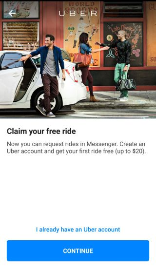 FB Messenger and Uber