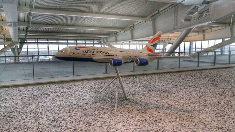 British Airways A380 model