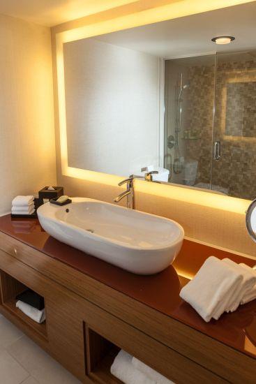 Hospitality Suite Bedroom Bathroom