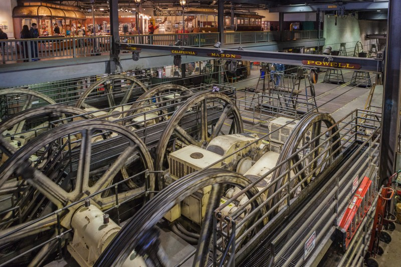 Electric Motors powering the Cable Car Lines