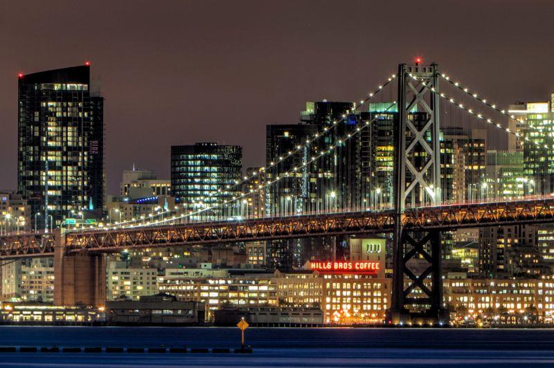 San Francisco and Bay Bridge