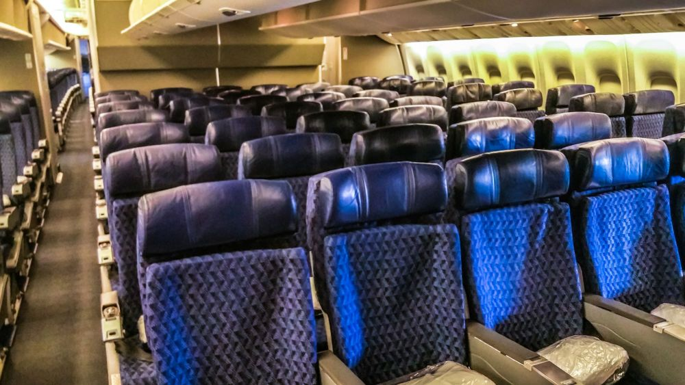 Economy Class aboard the Boeing 777-200