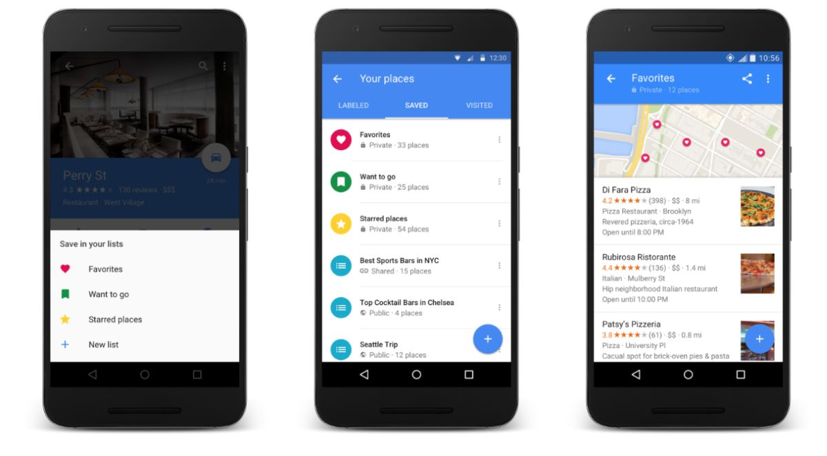 Google Maps for Android Gets List Feature