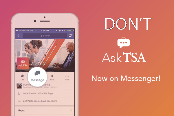 Don't Ask TSA on Facebook Messenger