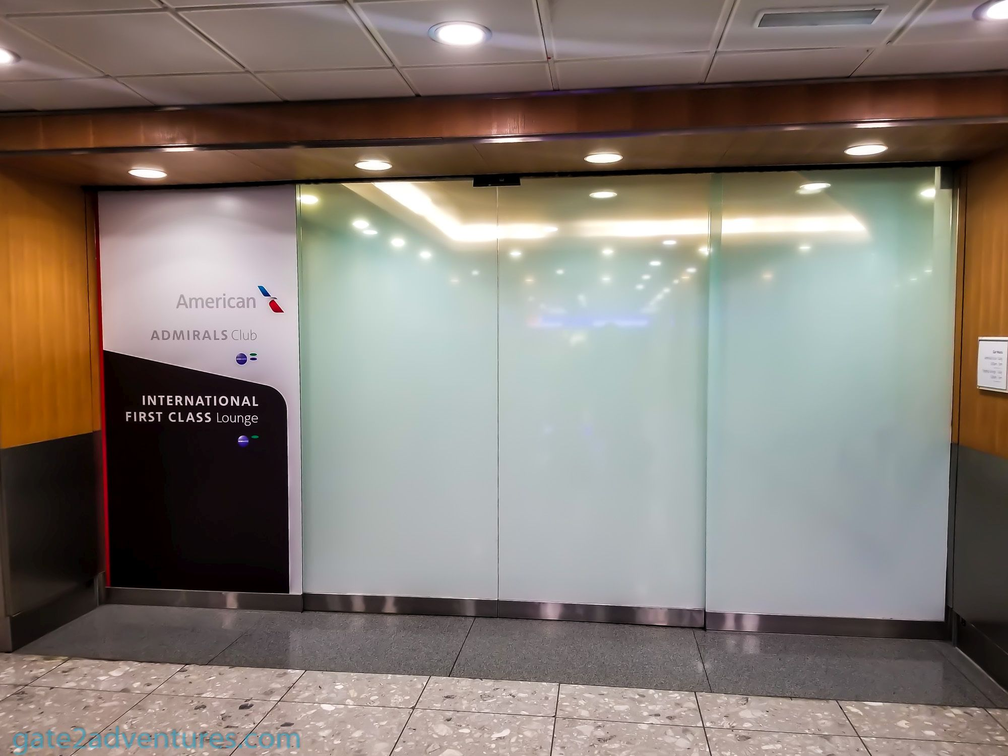 Lounge Review American Airlines International First Class