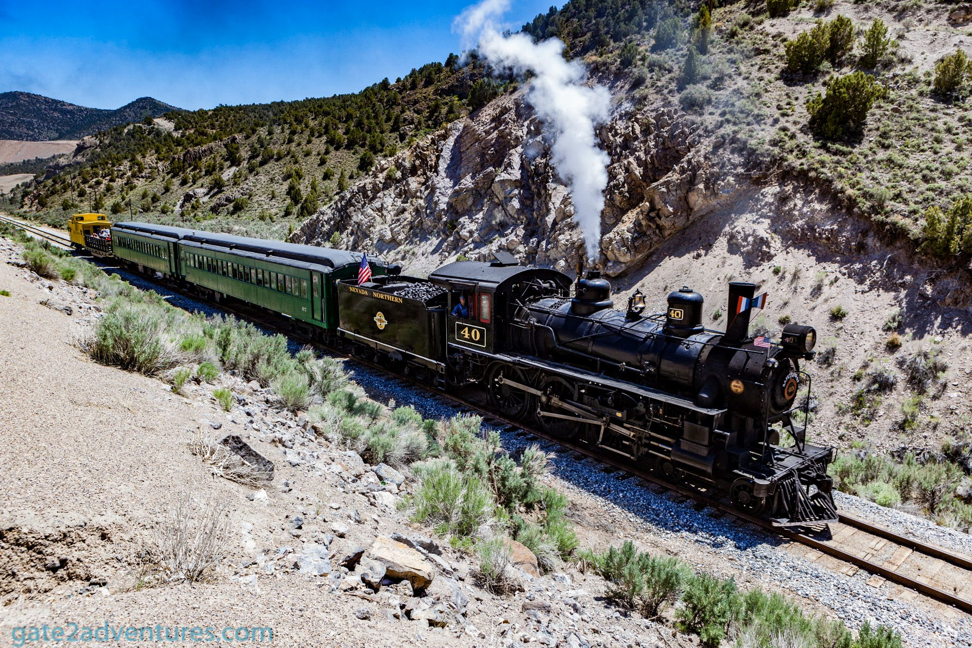 Visit the Nevada Northern Railroad in Ely, Nevada