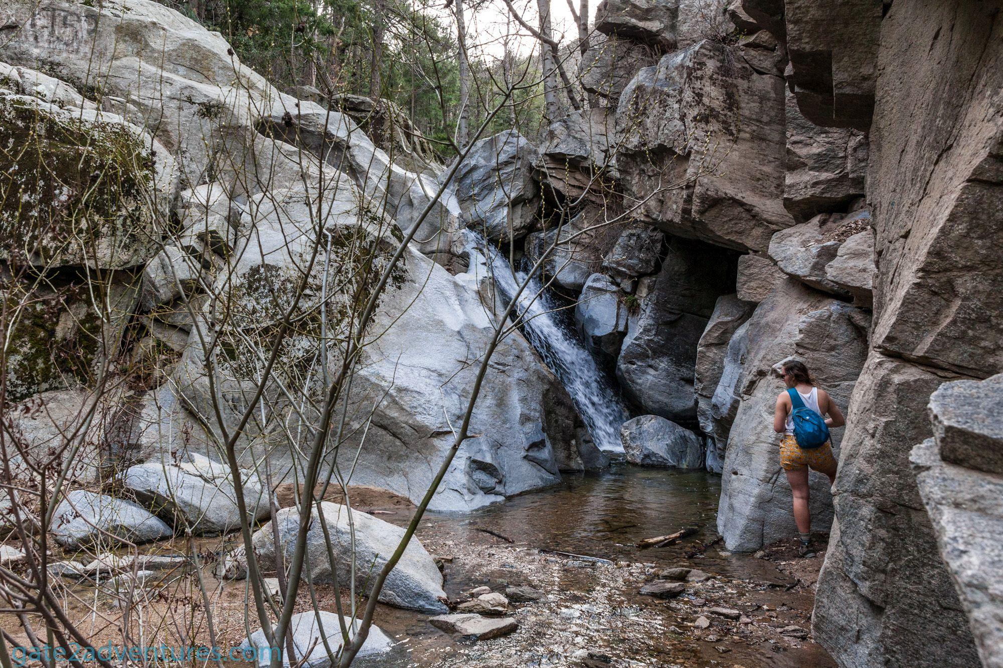 The Heart Rock Waterfall in Southern California