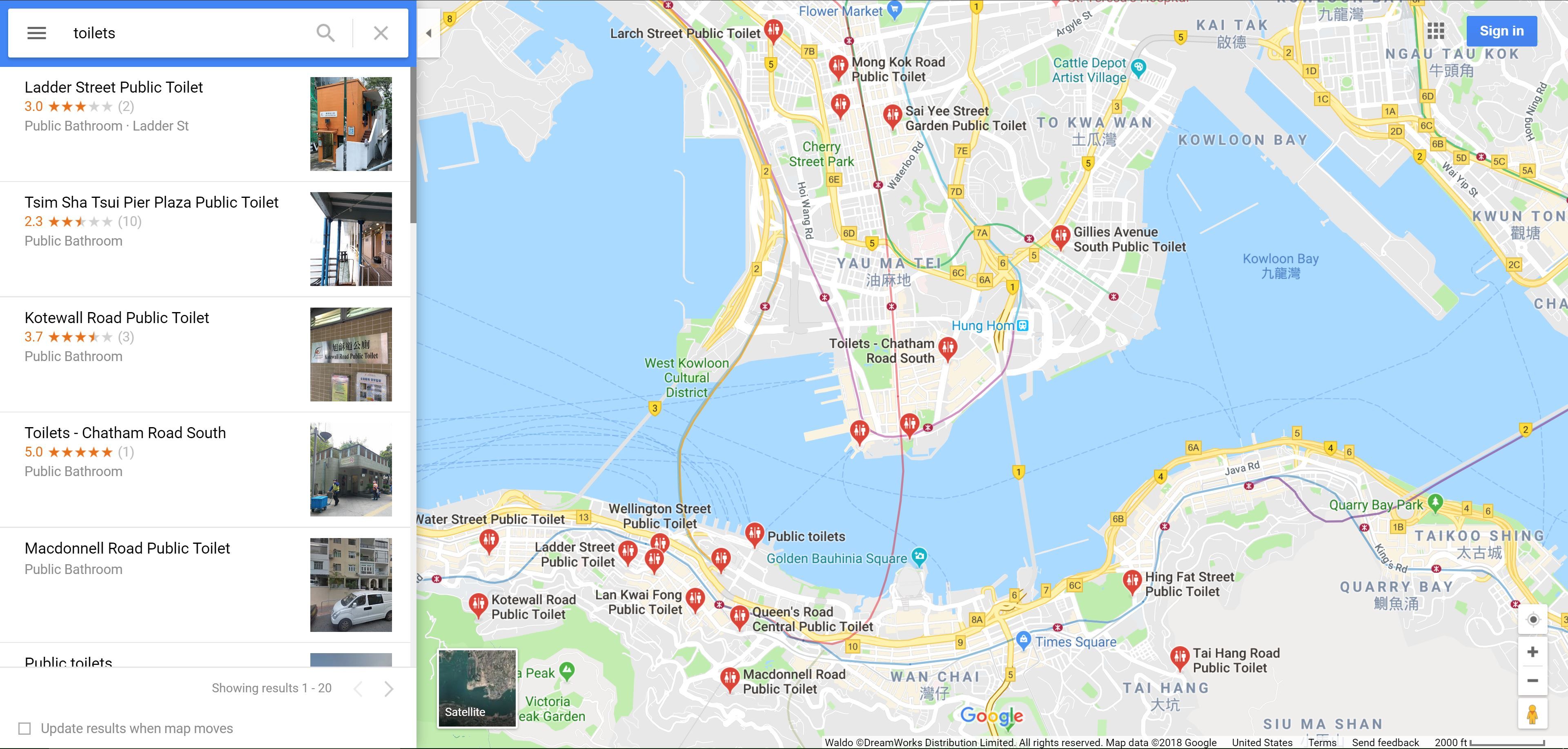 Travel Tip of the Week: If You Need to Go in Hong Kong, Use Google Maps
