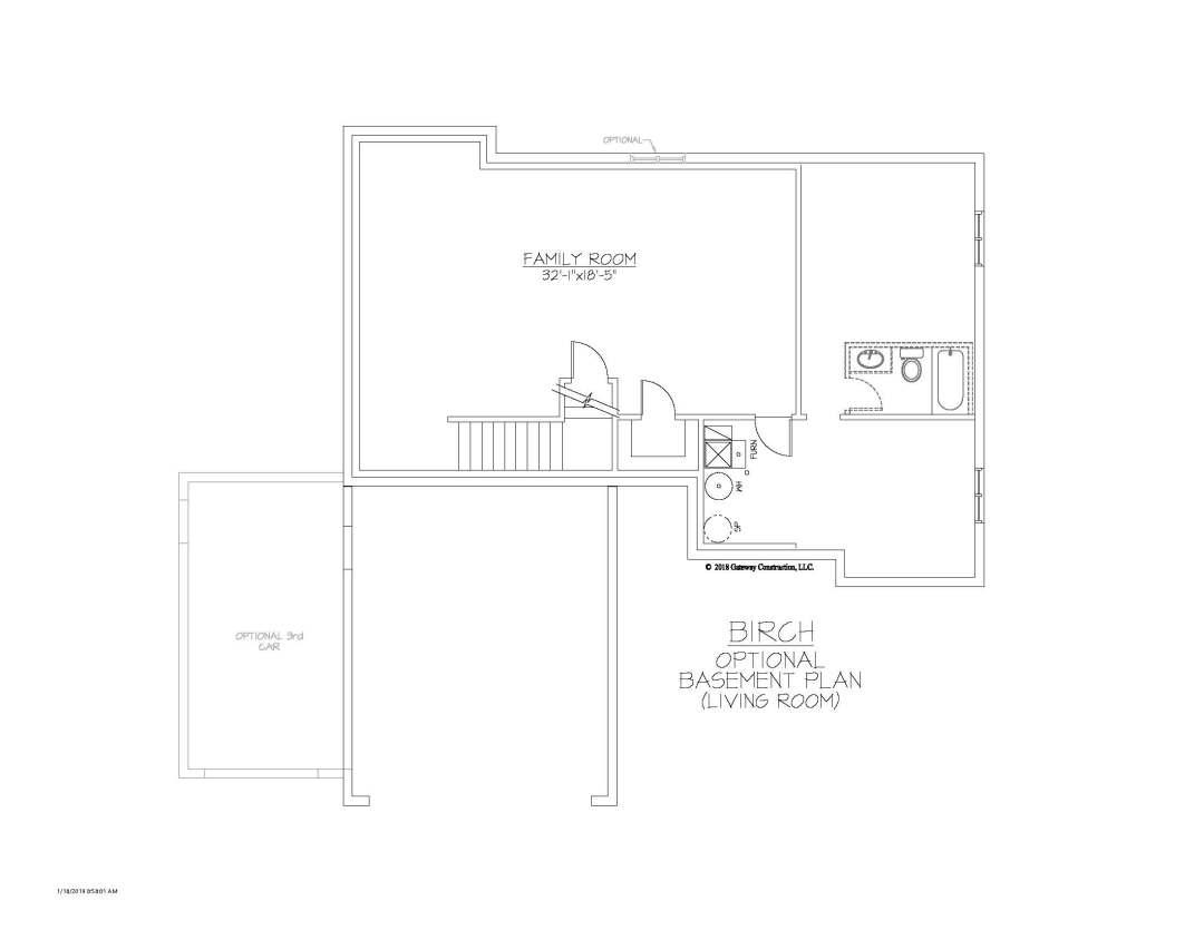 Birch GL Basement Living Room Finished