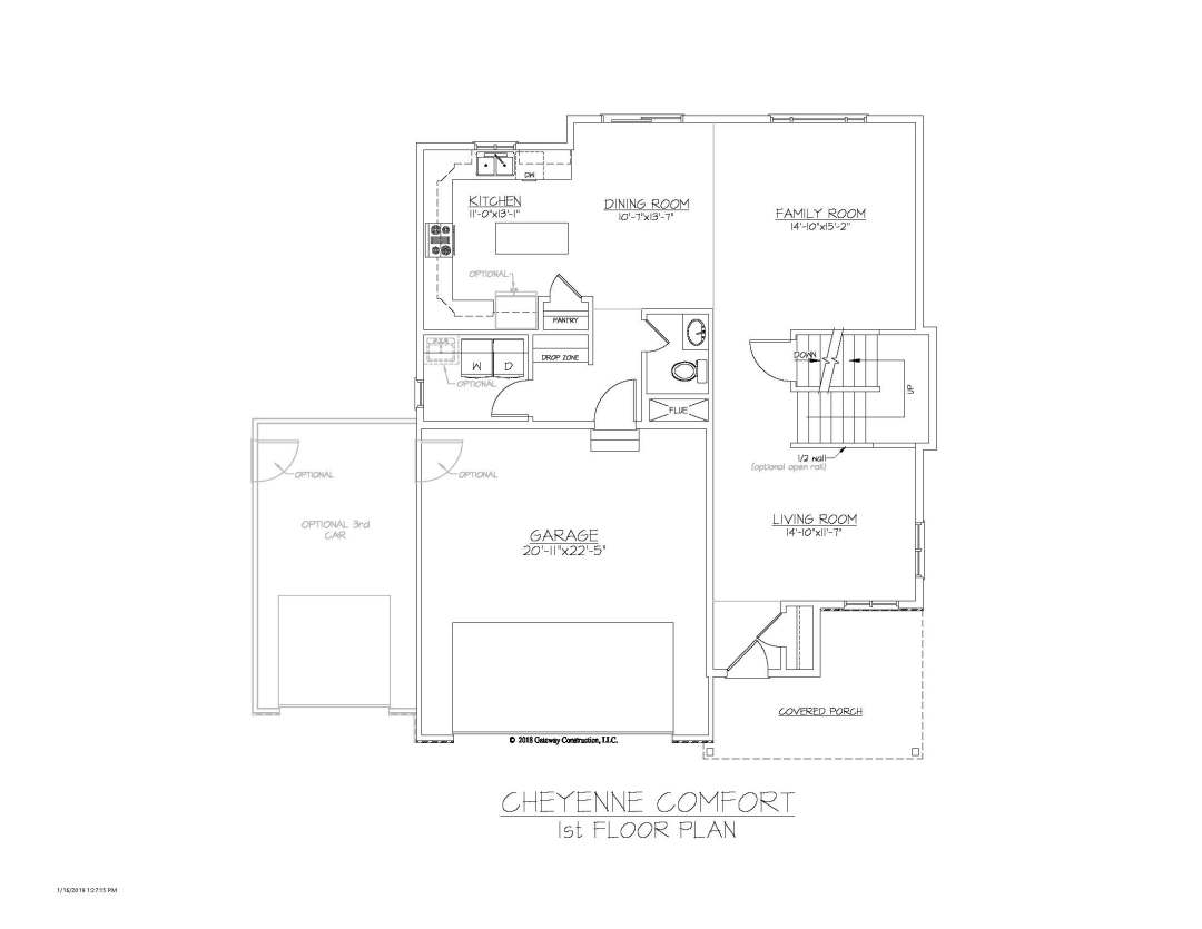 Cheyenne GL 1st Floor Plan - C