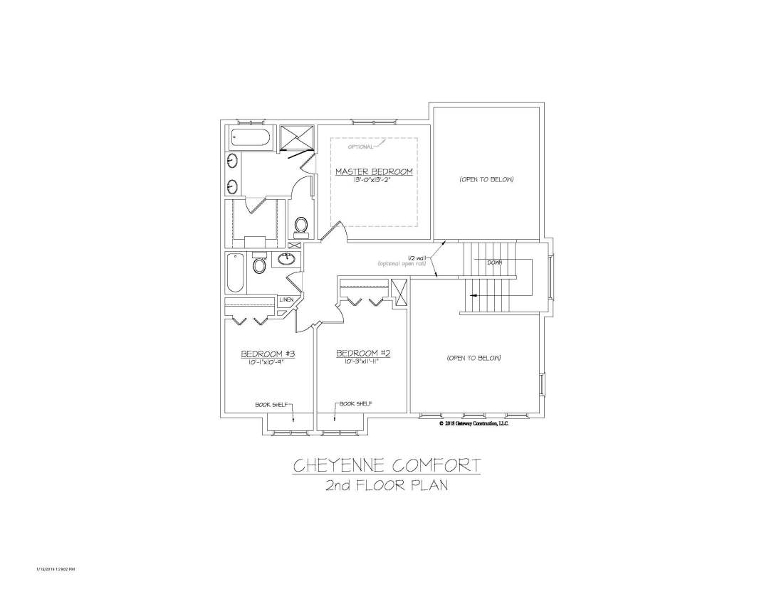 Cheyenne GL 2nd Floor Plan - C