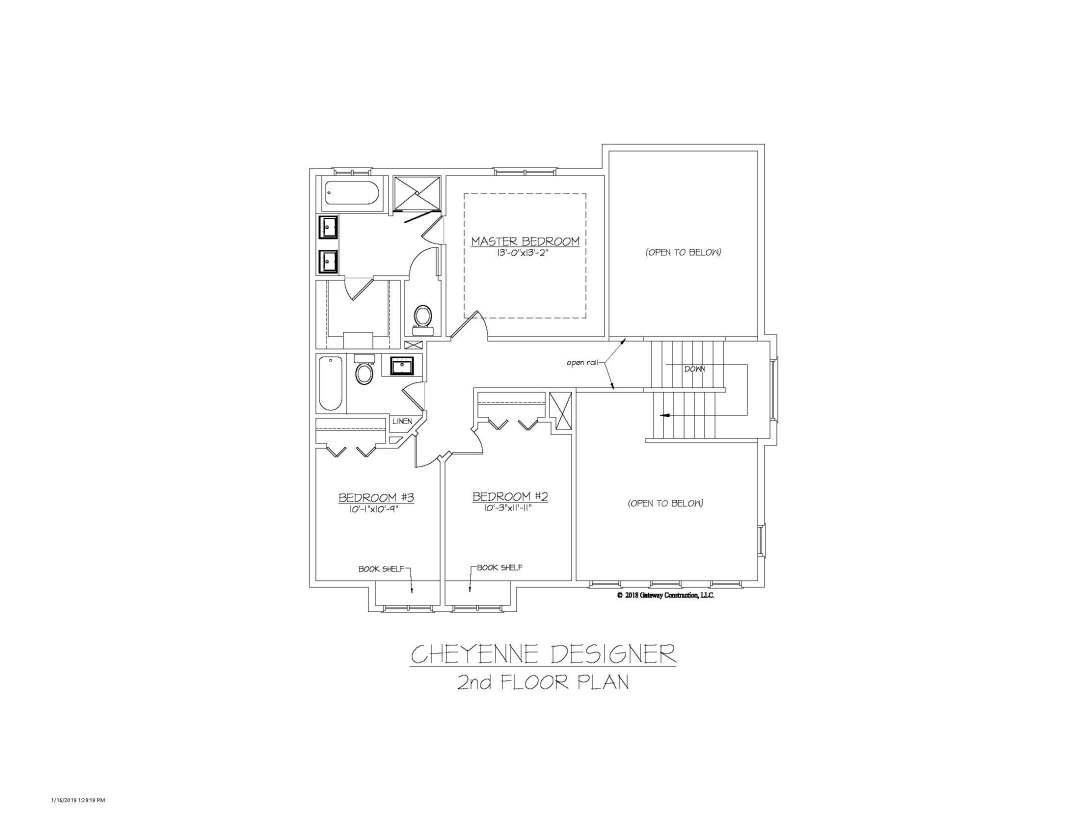 Cheyenne GL 2nd Floor Plan - D