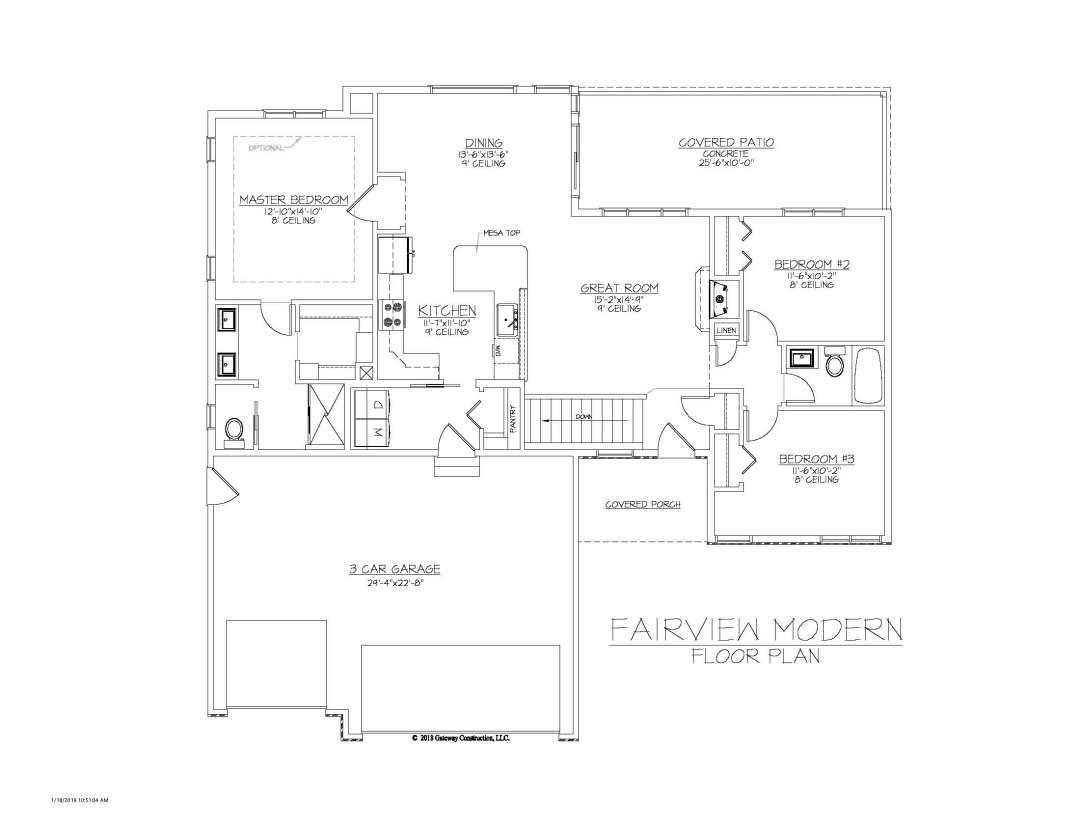 Fairview GL Fplan - M