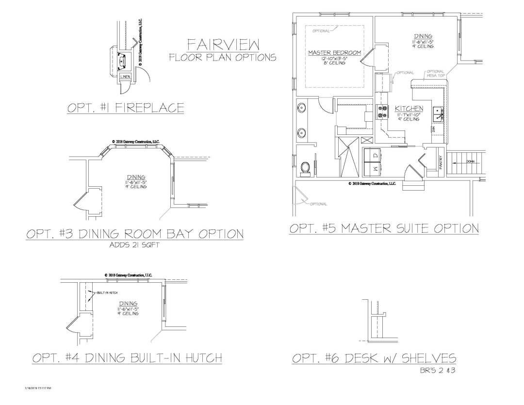 Fairview GL Fplan Options