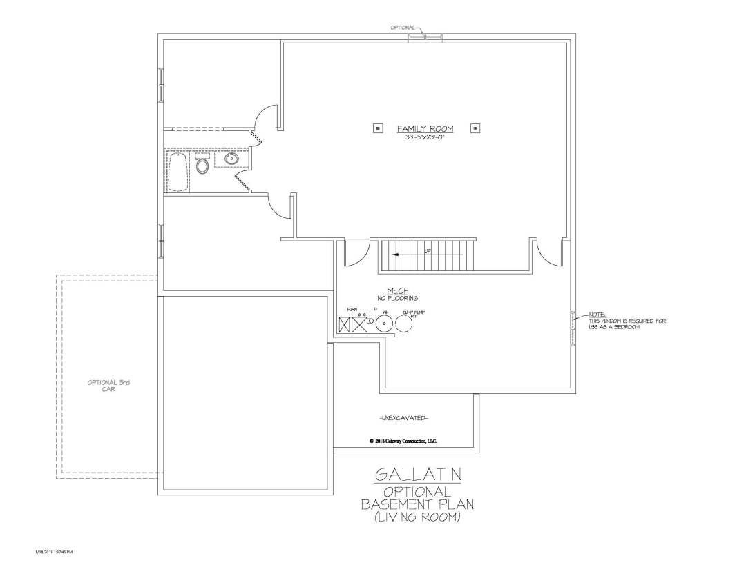 Gallatin GL Basement Living Room Finish