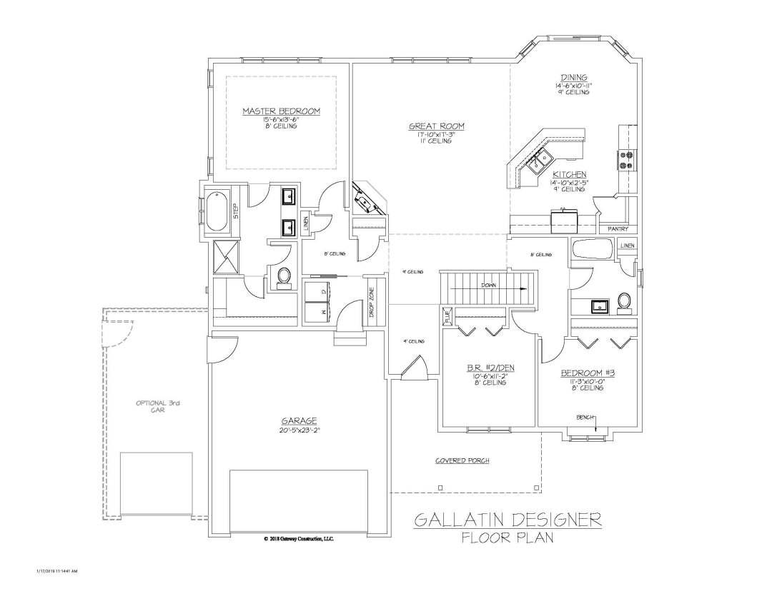 Gallatin GL Floor Plan - D