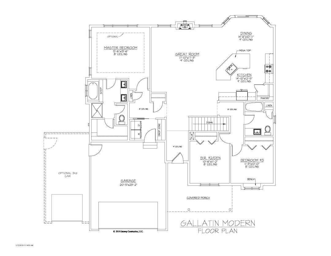 Gallatin GL Floor Plan - M