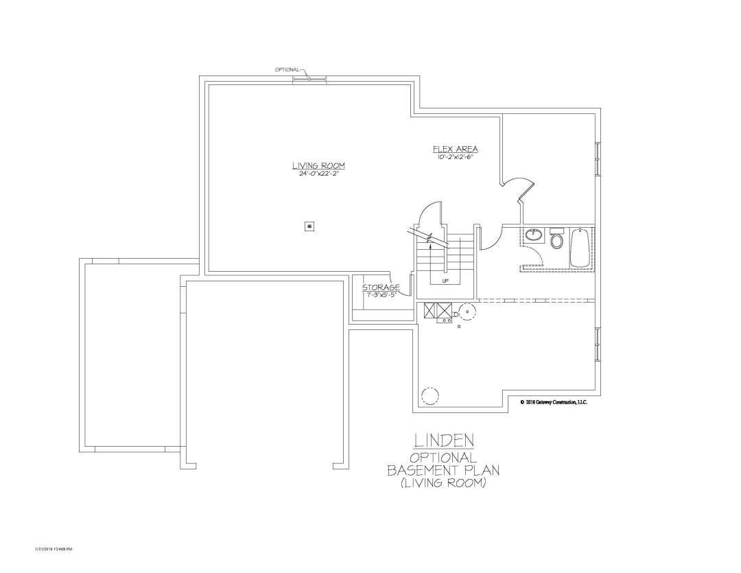 Linden GL Basement Living Room Finish