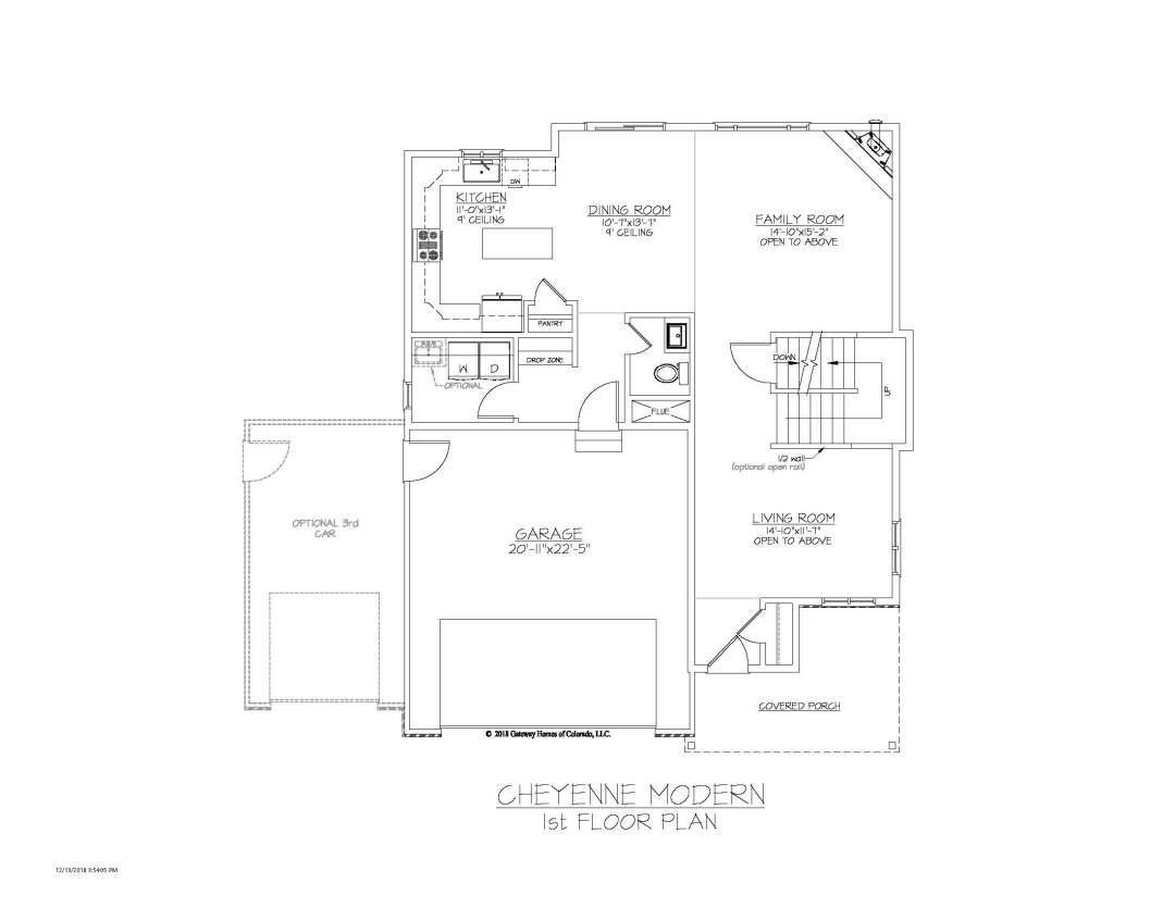 SM Cheyenne Modern 1st Floor Plan