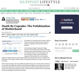 Death by Cupcake - Jody Day - Huffington Post UK - 3 Sep 2012