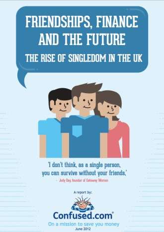 Friendship, Finance & The Future - The Rise of Singledom in the UK - with quotes from Jody Day of Gateway Women