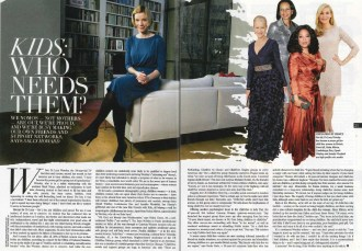Kids, Who Needs Them? Article in Sunday Times Style Supplement featuring Gateway Women by Sally Howard