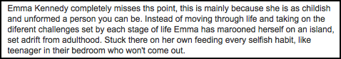 Emma Kennedy Comment 2