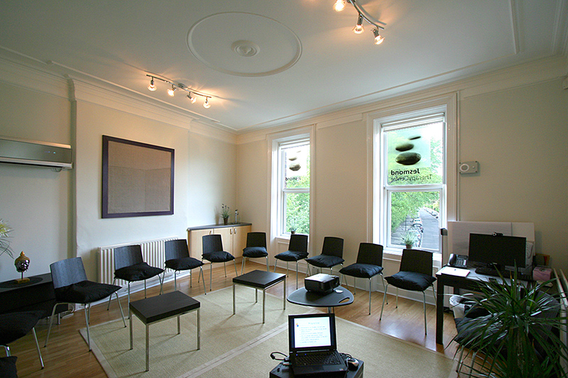 The meeting room at the restful Jesmond Therapy Centre is the venue for our weekend together