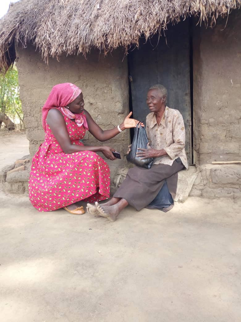 Helping elderly people, widows, and single mothers in difficult circumstances