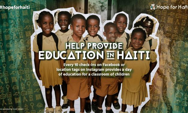#hopeforhaiti