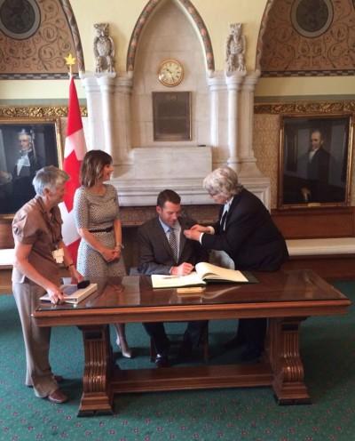 John Barlow - swearing in - Ottawa