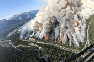 Spreading Creek wildfire