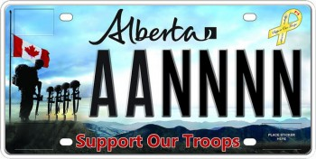 Support Armed Forces - Alberta plate