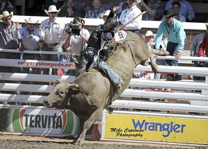 Ty Pozzobon (photo by Mike Copeman Photography,courtesy the Calgary Stampede)