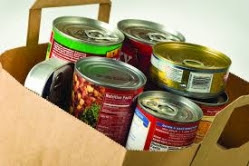 canned food in bag
