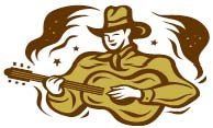 singing cowboy clipart