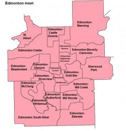 Alberta Electoral Map - Edmonton
