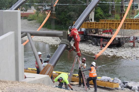 Weadick Bridge - employees working