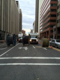 Downtown Calgary - restoring power