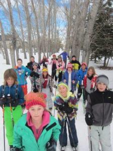 École Percy Pegler School Outdoor Education Club students