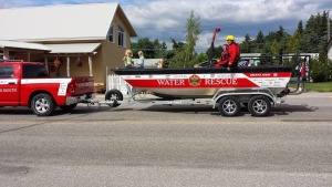 Foothills Water Rescue craft in Longview Parade 2014