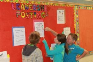 École Joe Clark School students check out leadership opportunities in the school and community