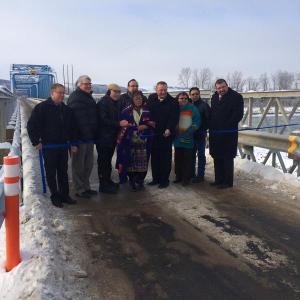 Opening of bridge at Sisksika