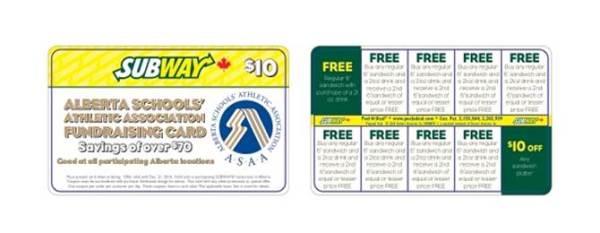 Peel a Deal Card - Subway