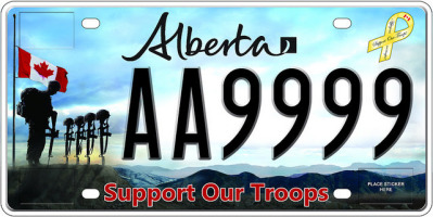 Support our Troops plates