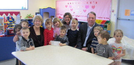 Boys & Girls CLub Receives cheque from CFEF