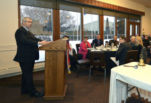Minister Campbell speaks to the Rotary Club of Edmonton Glenora